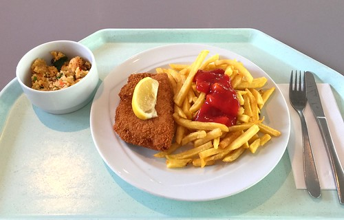 Pork cordon bleu, french fries & bulgur salad / Cordon bleu vom Schwein, Pommes Frites & Bulgur-Salat