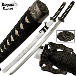 Samurai-sword-dragon-katana-white