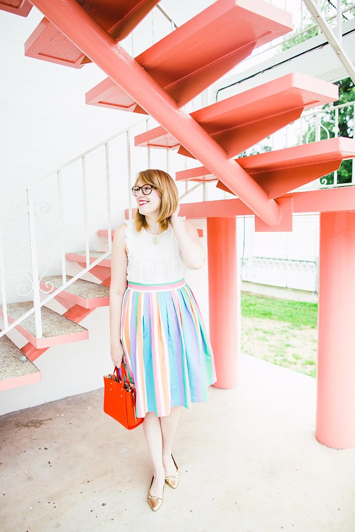 rainbow midi skirt2