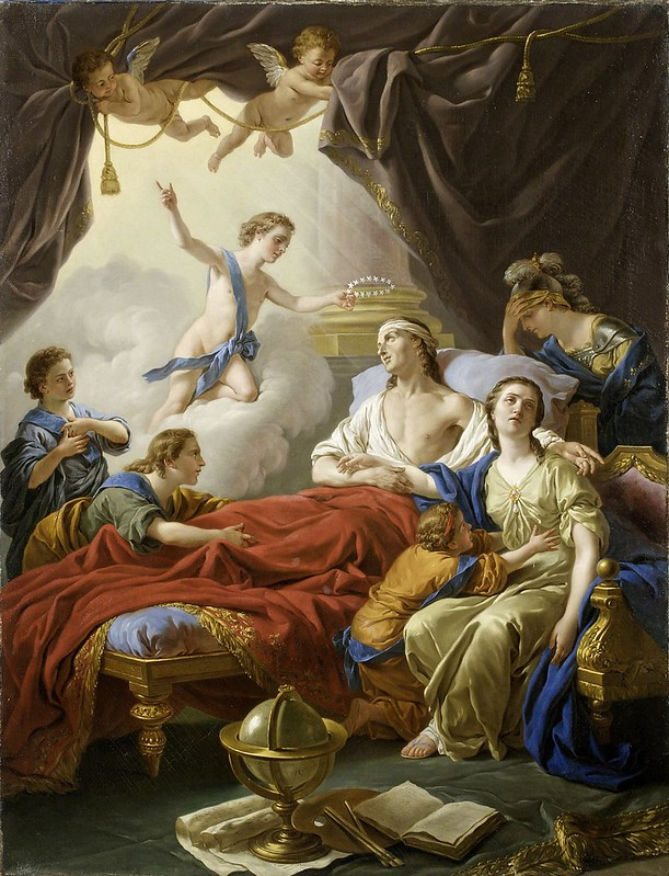 Louis-Jean-François Lagrenée - Allegory on the Death of the Dauphin (1765)