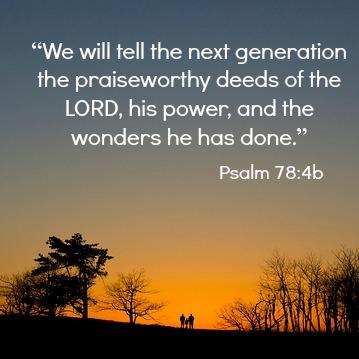 Psalm 78:4b