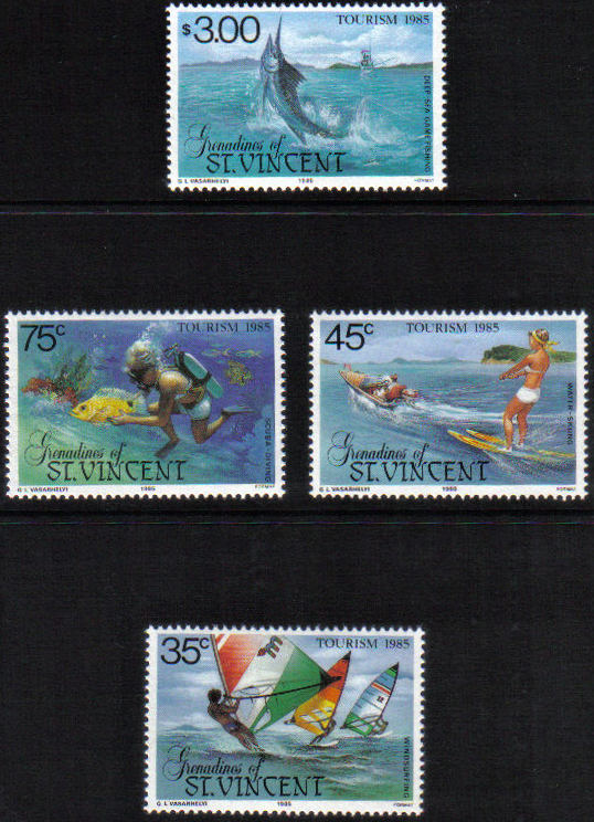 Známky Svätý Vincent a Grenadíny 1985, Turizmus