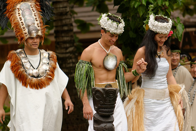 olynesian Cultural Center - Tahiti Wedding Ceremony