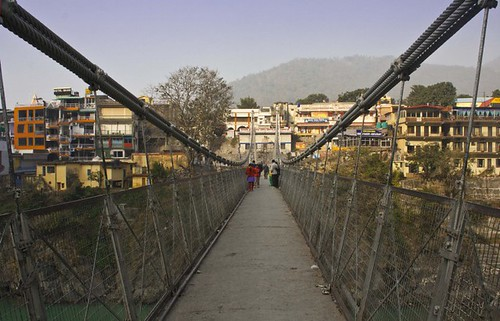 Ram Jhula Bridge in Rishikesh, Uttarakhand, India