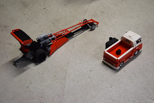 LEGO Top fuel dragster - photo from shooting the video