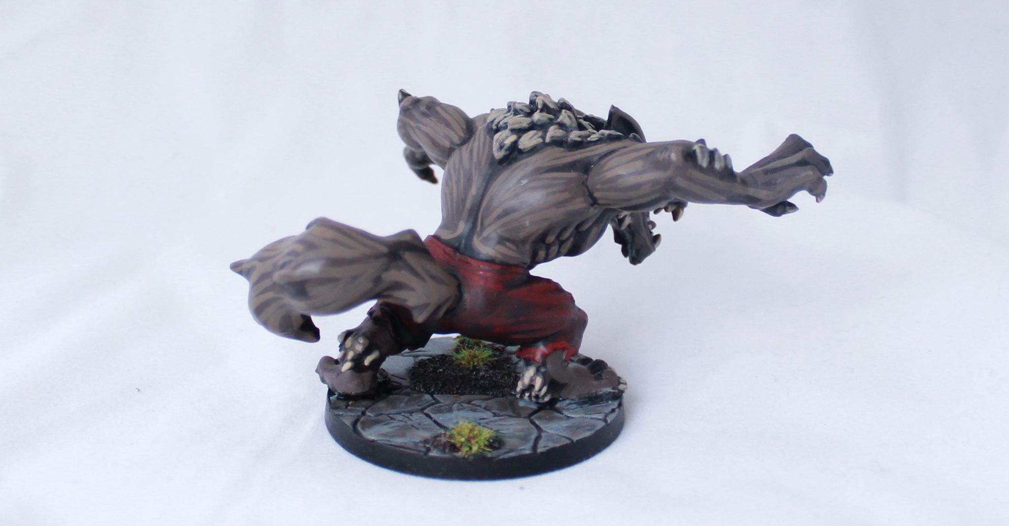 Super Dungeon Explore SDE Von Drakk Manor Von Wilder Chibi Werewolf Painted
