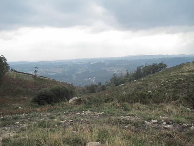 Vistas sobre Meirama-Cerceda en el PR-G 130 Meirama - Xalo - Meirama