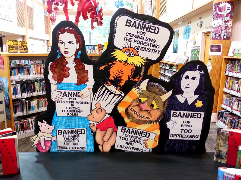 Banned Books Display At the Lacey Library