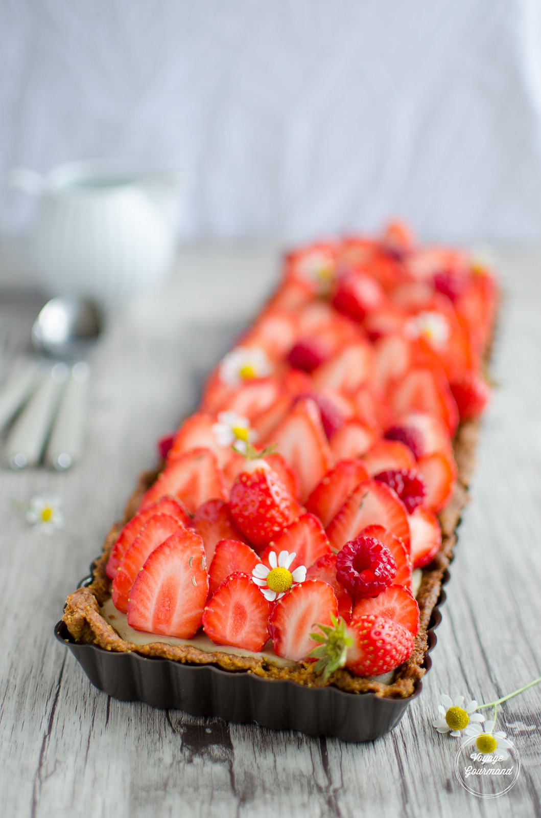 Tarte aux fraises IG bas