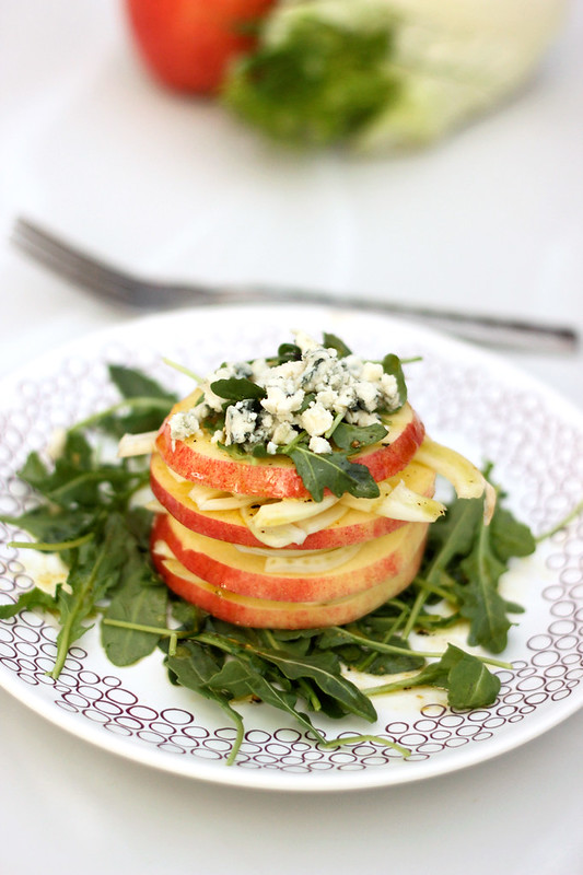 Apple Fennel Salad Stack - Gluten-free w/ Vegan Option