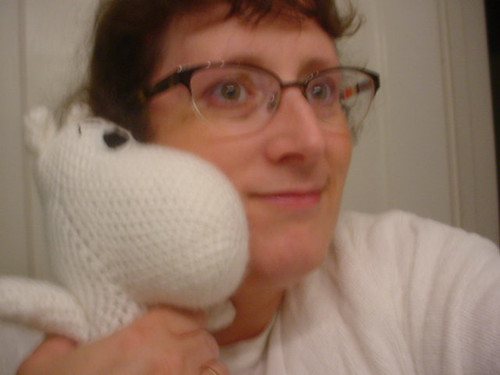 hugging moomin