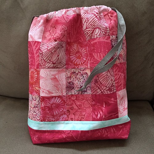 Pink nightmare drawstring bag