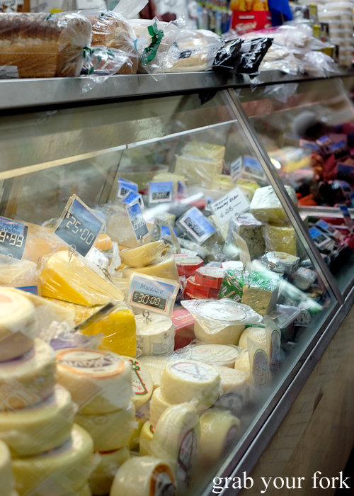 Cheeses at Lamia Super Deli during the Community Kouzina Marrickville Food Tour for Open Marrickville