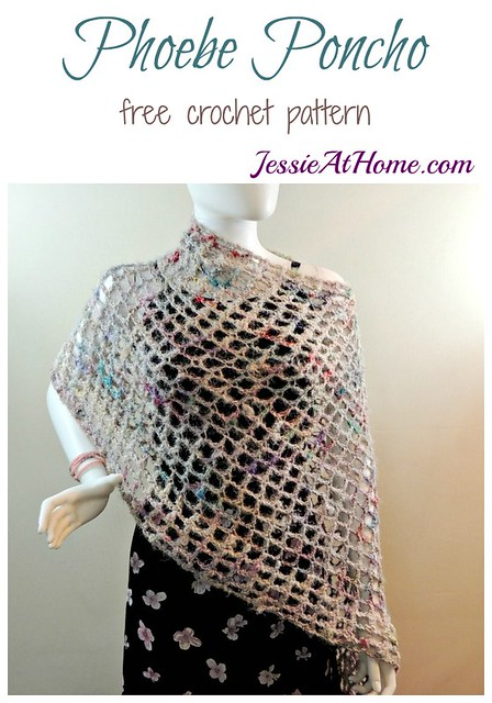 Phoebe Poncho Quick And Easy Summer Crochet Pattern Jessie At Home