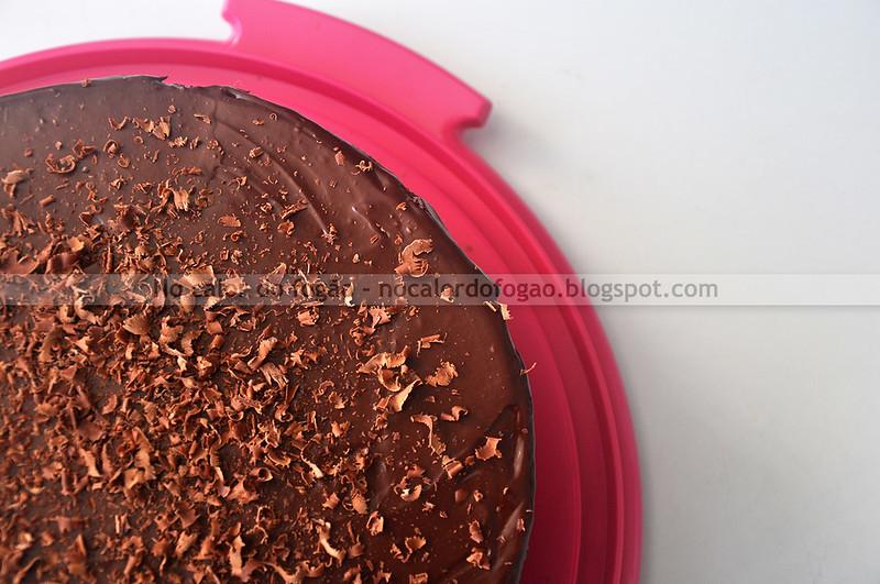 Bolo de chocolate festivo sem lactose