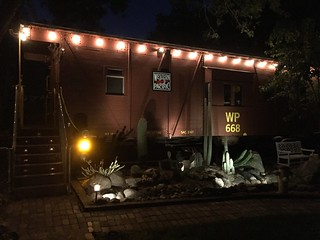 WP668 caboose at night 27 June 2016