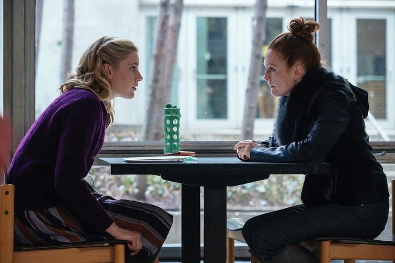 Greta Gerwig and Julianne Moore conspire on MAGGIE'S PLAN.
