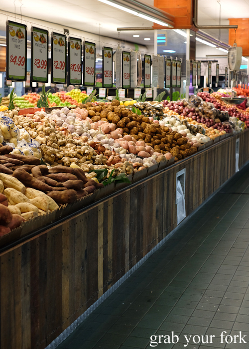 Sweet potatoes, potatoes and onions at Banana Joe's supermarket during the Community Kouzina Marrickville Food Tour for Open Marrickville