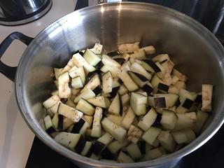 Experimental: aubergine risotto