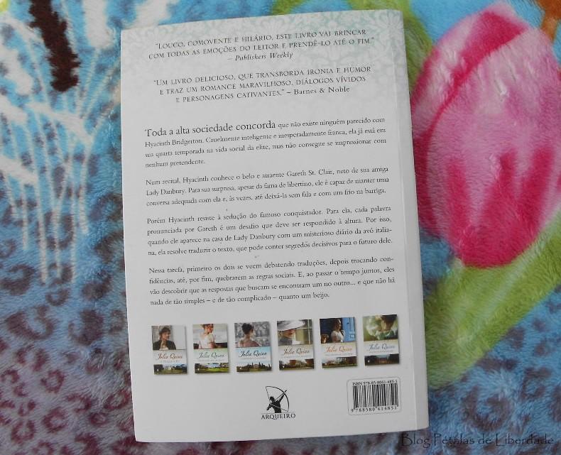 Resenha, livro, Um-beijo-inesquecível, Julia-Quinn, Editora-Arqueiro, romance-de-epoca, os-bridgertons, sinopse