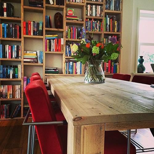 Boekenkast 39 letterbak 39 steigerhout te koop bij w00tdes for Boekenkast steigerhout