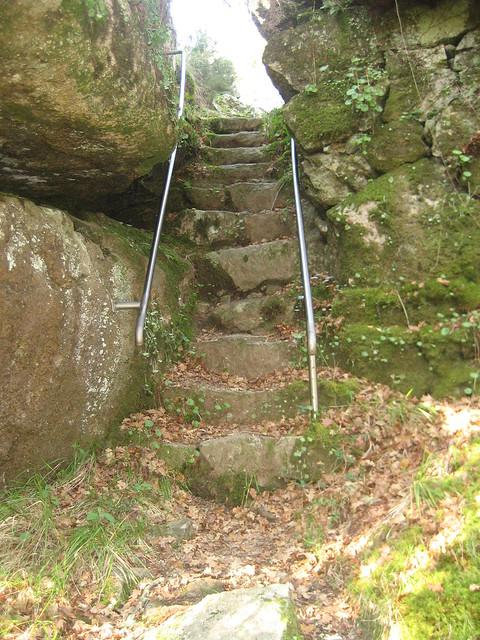 Escaleras en la PR-G 59 Ruta da Auga