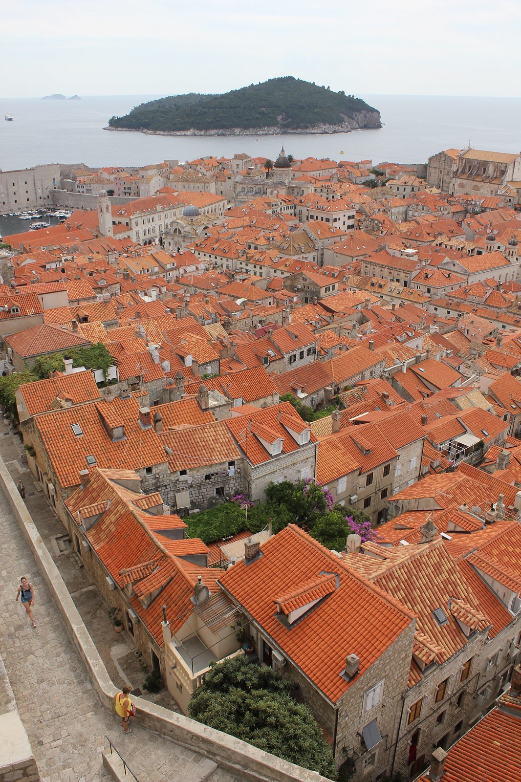 Dubrovnik Croatia rooftops view from old city wall