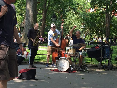 Musicians in Washington Square Park