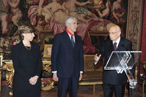Italia-Francia: Cerimonia di consegna della Legione d'onore