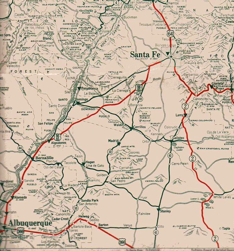 OLD US Routing Through NM Madness - Us 66 map