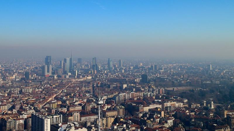 Vista dal 50° piano della Torre Isozaki