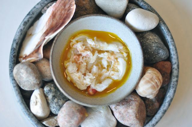 Restaurant Noma: Kongekrabbe med æggeblommesauce