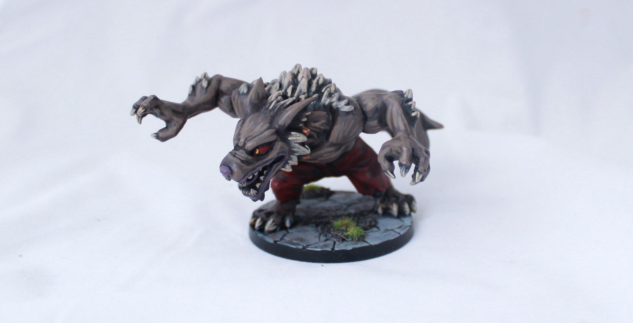 SDE Super Dungeon Explore Von Drakk Manor Von Wilder Werewolf Chibi Painted Miniature