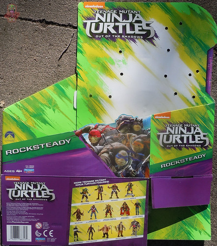 "'TEENAGE MUTANT NINJA TURTLES: OUT OF THE SHADOWS' :: 11"" Movie ROCKSTEADY box i (( 2016 ))"
