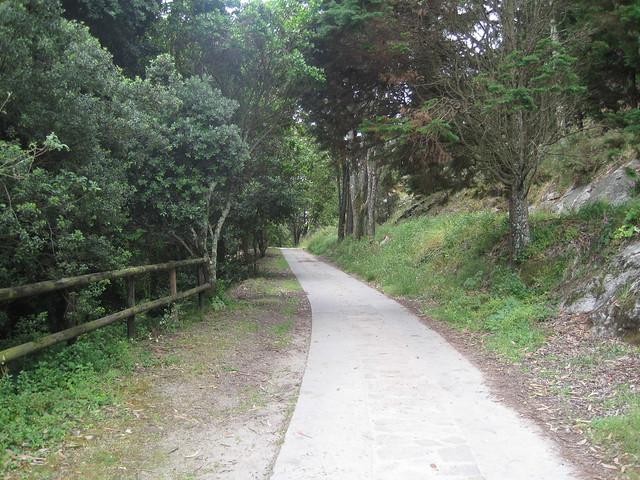 Camino en la ruta de las Islas Cíes
