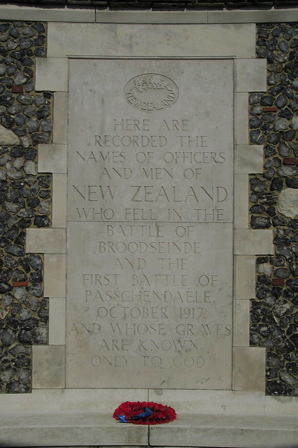 Tyne Cot Cemetery, New Zealanders Memorial