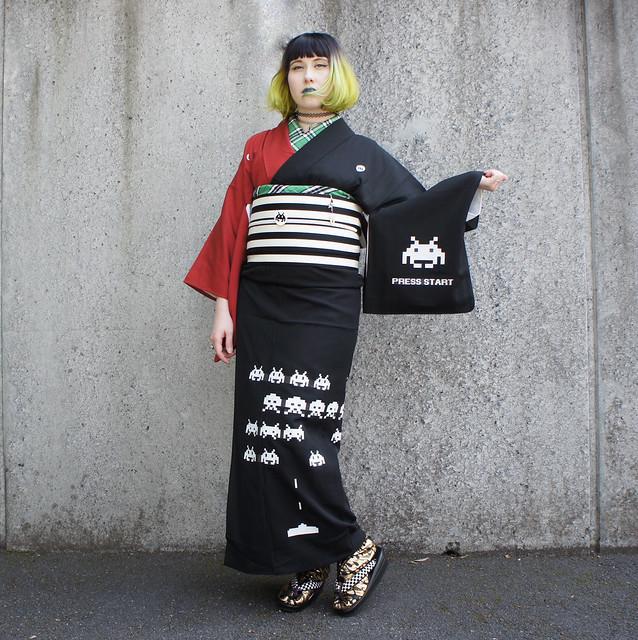 Space Invaders kimono SALZ Tokyo