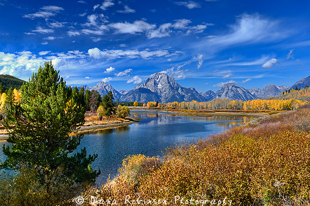 Mount Moran, Oxbow Bend in Grand Teton National Park