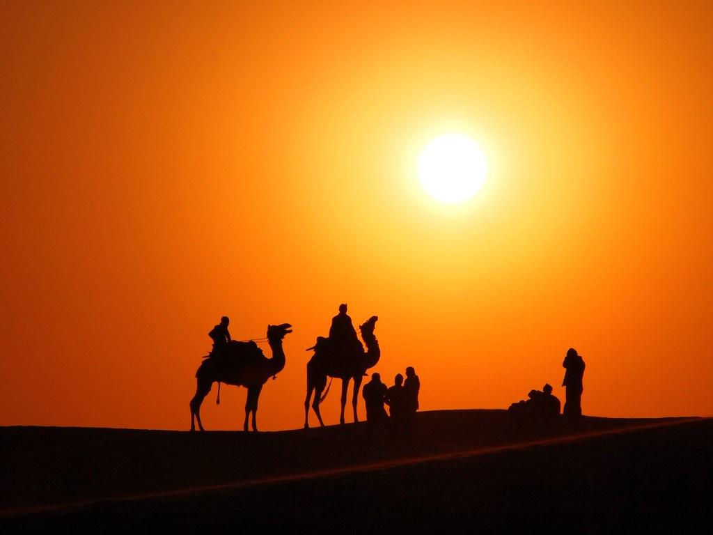 Khuri sand dunes, near Jaisalmer, Rajasthan