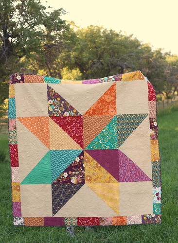 art-gallery-fabrics-indie-star-quilt | by amy smart