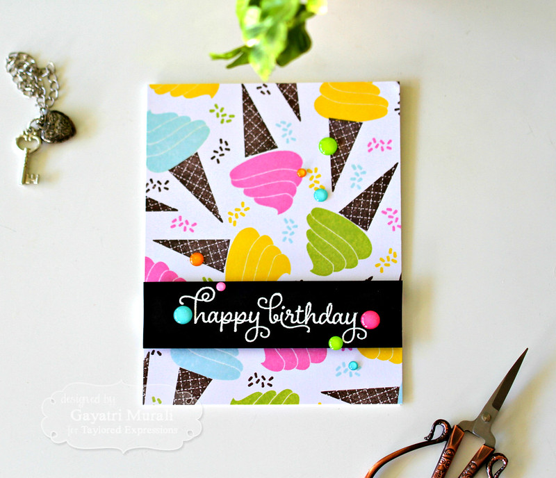 Happy Birthday card flat by Gayatri Murali