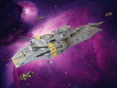 "Fire Drake Class Carrier CV-49 ""Admiral's Wrath"" by Lego Admiral"