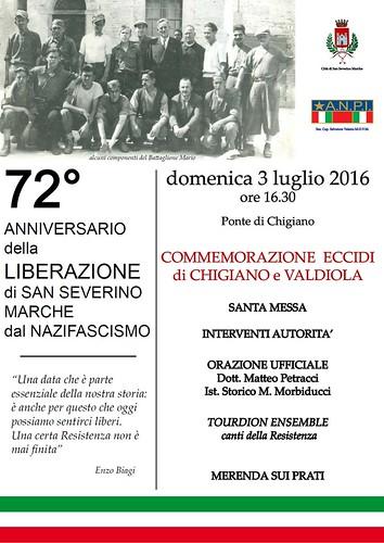 La Banda Adriani ed il gruppo vocale TOURDION ENSEMBLE al 72° Anniversario della Liberazione