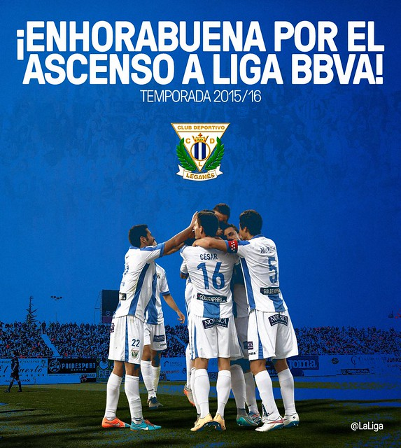 El C.D. Leganés asciende a la Liga BBVA