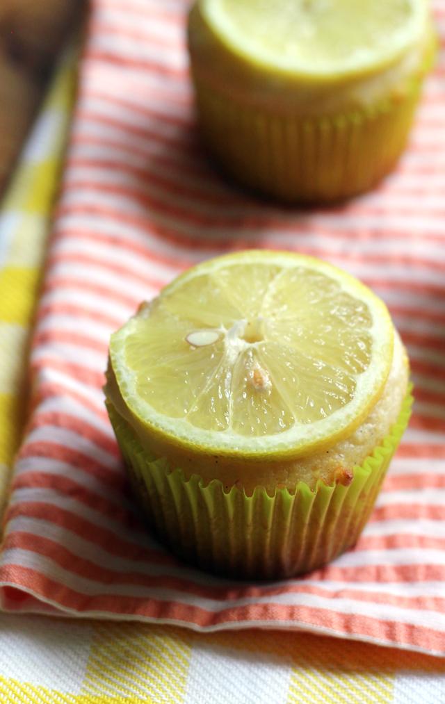 Lemon Ricotta Cornmeal Muffins with Lemon-Vanilla Glaze