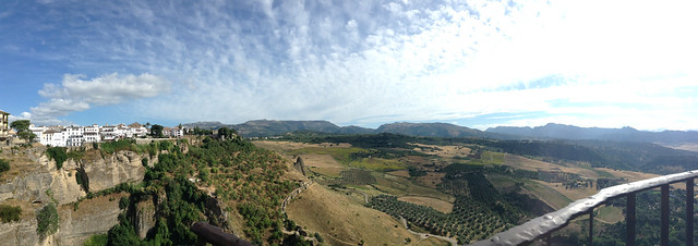 Panoramic view of Ronda, Spain