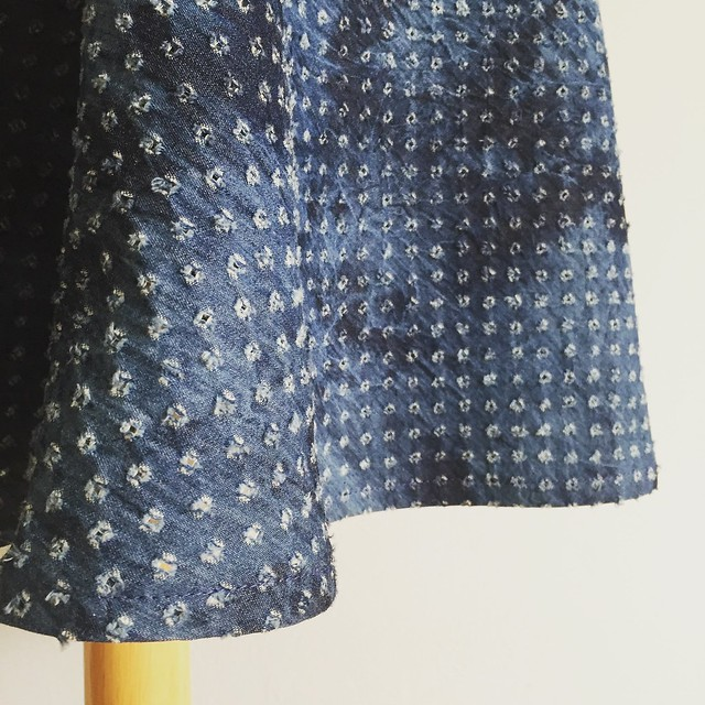 denim eyelet skirt