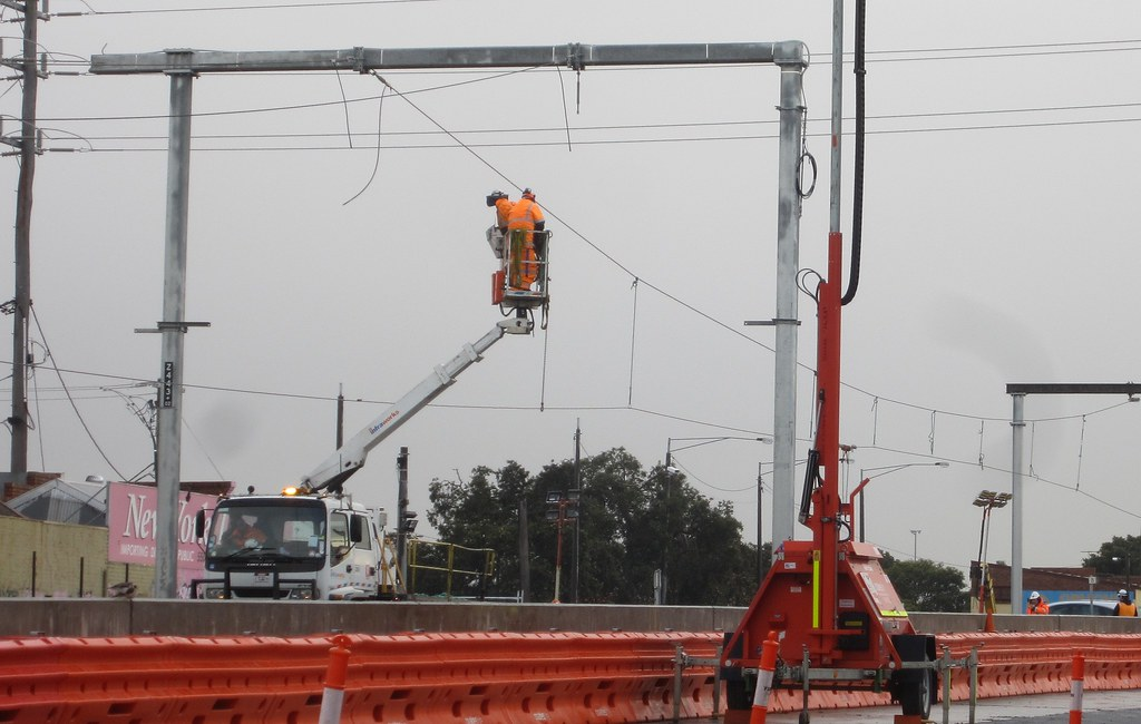 Level crossing removal works near Ormond, 25/6/2016
