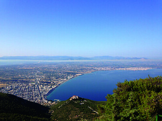 The view overlooking the city of Corinth
