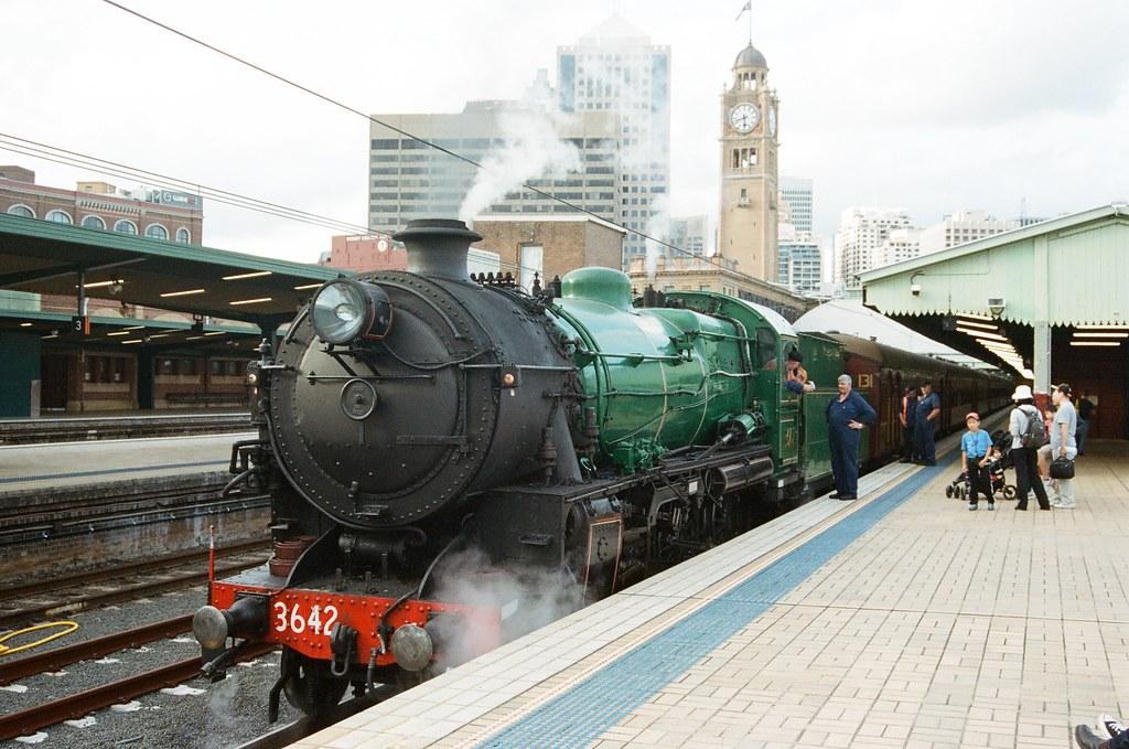 用底片拍蒸汽火車